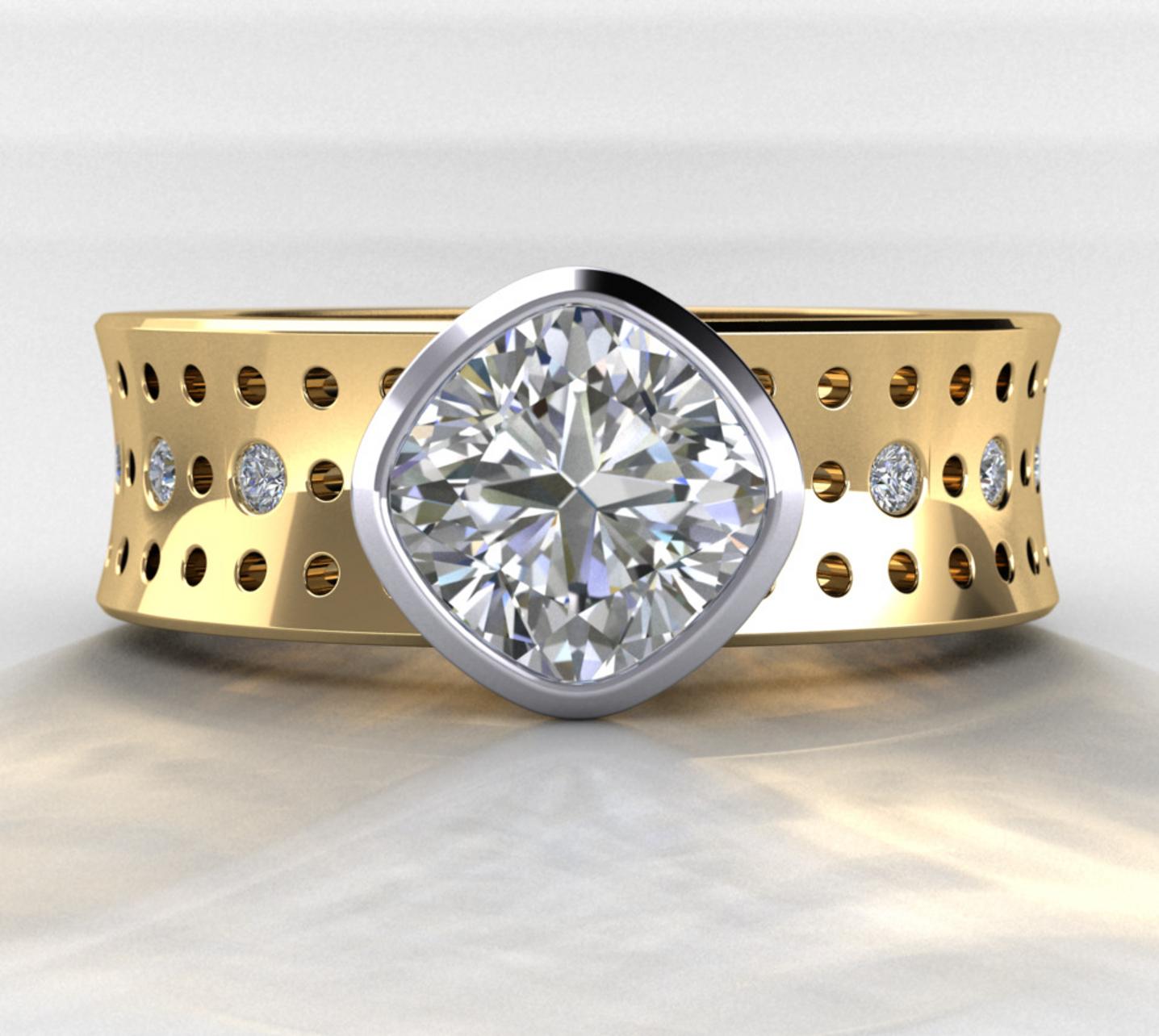 cushion-engagement-ring-unique