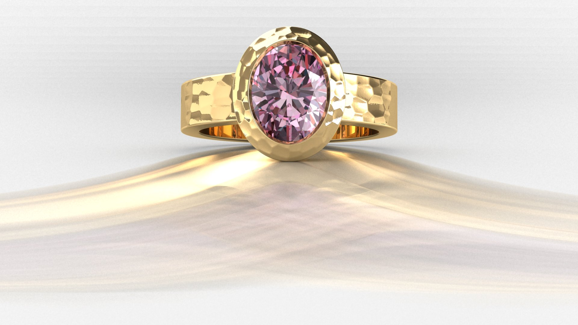 pink-diamond-hammered-gold-engagement-ring-1