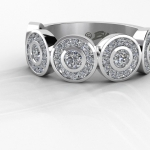 BW 5 bezel anniversary ring - HD Render